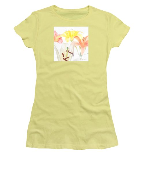 Women's T-Shirt (Athletic Fit) featuring the photograph Lilies by David Perry Lawrence