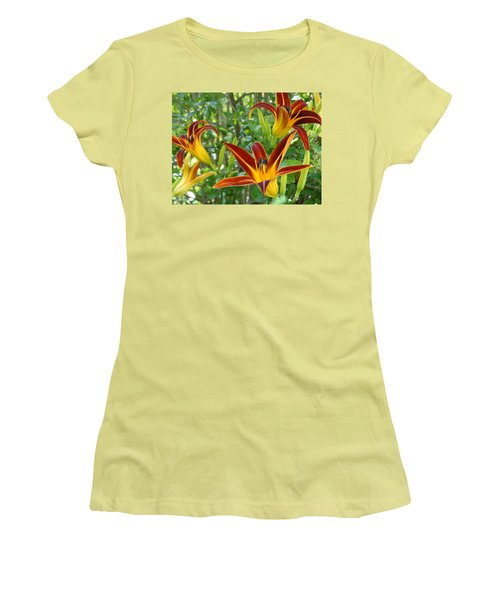 Lilies Sunrise Women's T-Shirt (Junior Cut) by Rebecca Overton