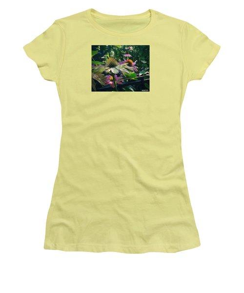 Women's T-Shirt (Junior Cut) featuring the digital art Lil's Garden by Phil Mancuso