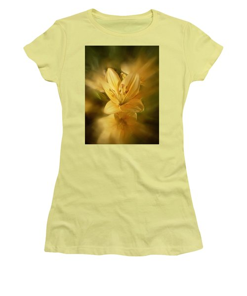 Women's T-Shirt (Junior Cut) featuring the photograph Lily Be Mine by Richard Cummings