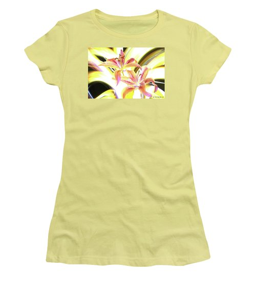 Lily Burst Women's T-Shirt (Junior Cut) by Andrew Nourse
