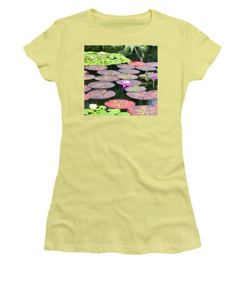 Lily Pads And Parasols Women's T-Shirt (Athletic Fit)