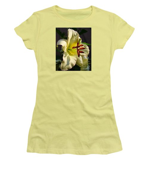 Lily's Morning Women's T-Shirt (Junior Cut) by Pamela Clements