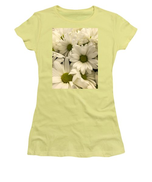 Lime Center Women's T-Shirt (Junior Cut) by Arlene Carmel
