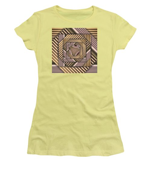 Women's T-Shirt (Junior Cut) featuring the digital art Line Geometry by Ron Bissett