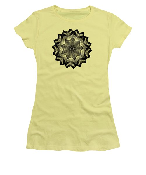 Lines In A Star By Kaye Menner Women's T-Shirt (Junior Cut) by Kaye Menner