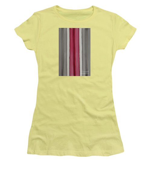 Women's T-Shirt (Junior Cut) featuring the painting Lines by Jacqueline Athmann