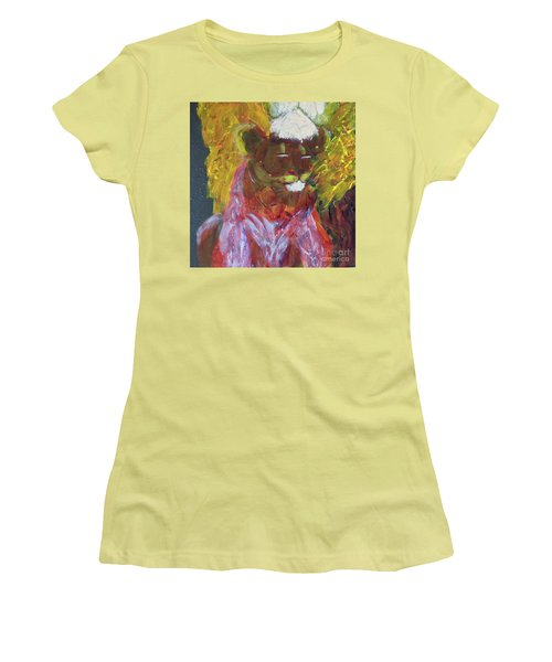 Women's T-Shirt (Athletic Fit) featuring the painting Lion Family Part 4 by Donald J Ryker III