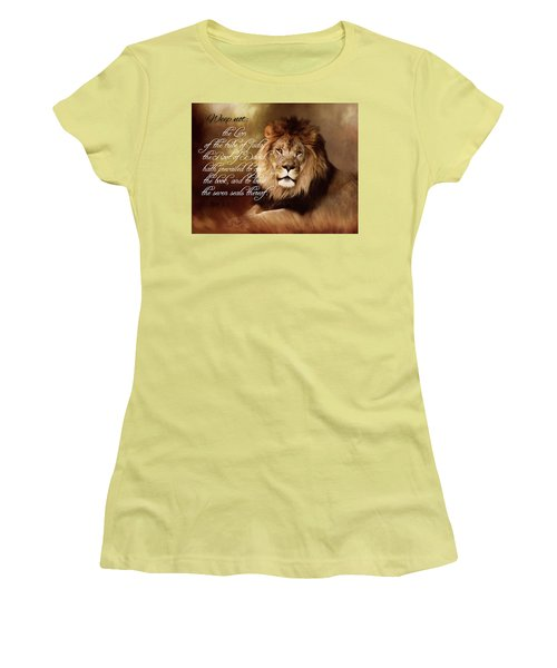 Lion Of Judah Women's T-Shirt (Athletic Fit)