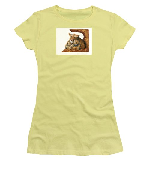 Lion - Protect Our Children Painting Women's T-Shirt (Athletic Fit)