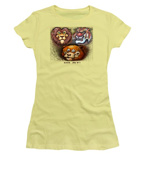 Lions And Tigers And Bears Oh My Women's T-Shirt (Junior Cut) by Kevin Middleton