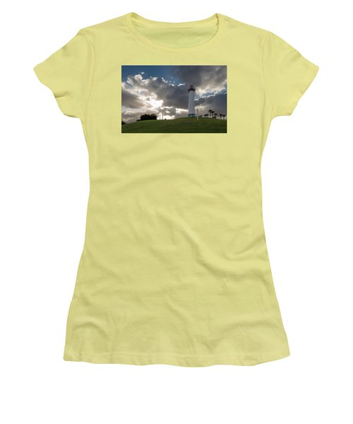 Lion's Lighthouse For Sight - 2 Women's T-Shirt (Junior Cut) by Ed Clark