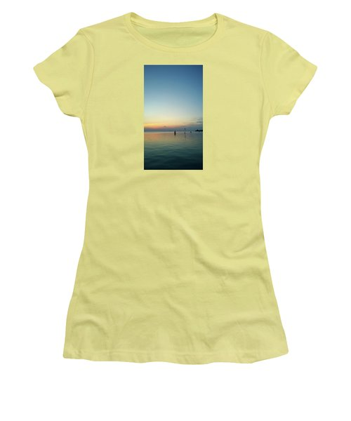Women's T-Shirt (Athletic Fit) featuring the photograph Liquid Sunset by Anne Kotan
