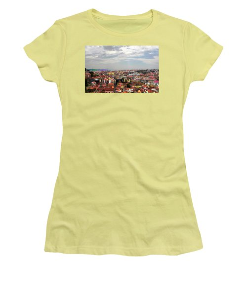 Lisbon's Chaos Of Color Women's T-Shirt (Junior Cut) by Lorraine Devon Wilke