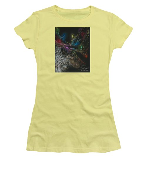 Women's T-Shirt (Junior Cut) featuring the drawing Lit Up by Meagan  Visser