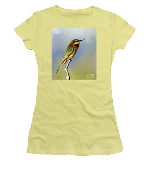 Women's T-Shirt (Junior Cut) featuring the photograph Little Bee-eater by Myrna Bradshaw