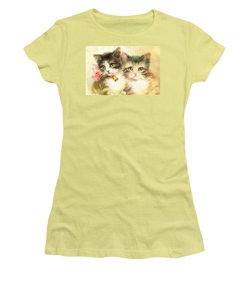 Little Kittens Women's T-Shirt (Athletic Fit)