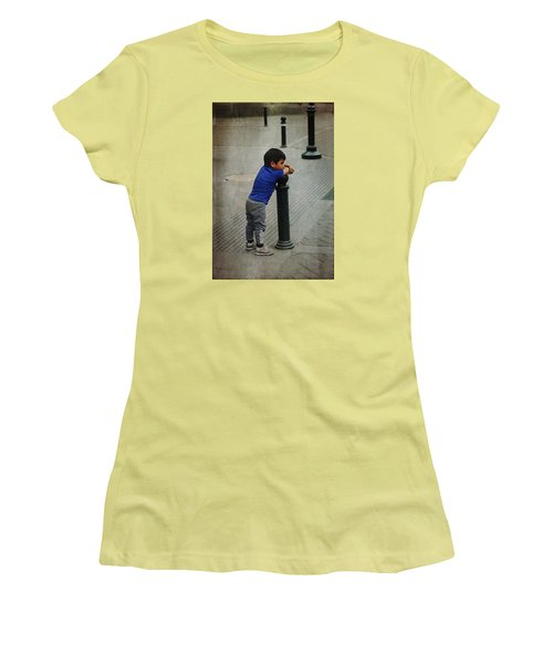 Little Peruvian Boy Women's T-Shirt (Athletic Fit)