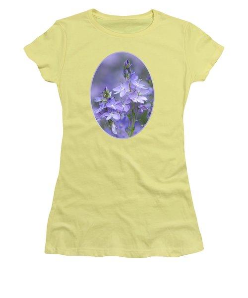 Little Purple Flowers Vertical Women's T-Shirt (Athletic Fit)