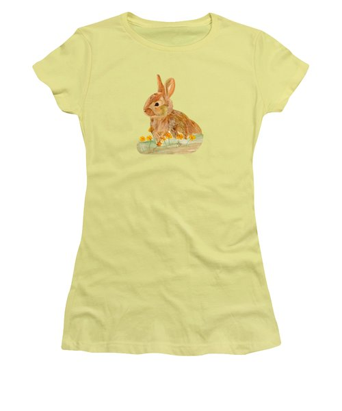 Little Rabbit Women's T-Shirt (Junior Cut) by Angeles M Pomata