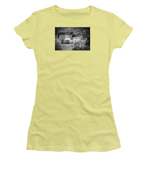 Little Victorian Styled Farm House In The Mountains Women's T-Shirt (Junior Cut) by Kelly Hazel