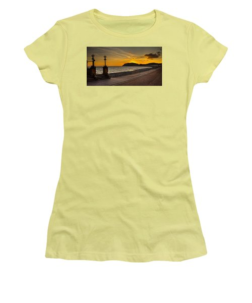 Llandudno Promenade And Little Orme Women's T-Shirt (Athletic Fit)