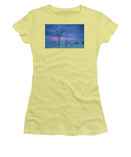 Lm Trees Women's T-Shirt (Athletic Fit)