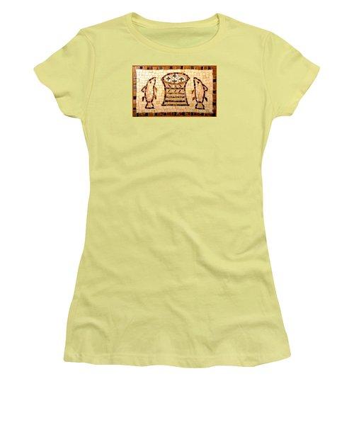Loaves And Fishes Mosaic Women's T-Shirt (Junior Cut) by Lou Ann Bagnall