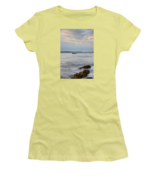 Lobsterboat Freedom II - Bass Harbor, Maine Women's T-Shirt (Athletic Fit)