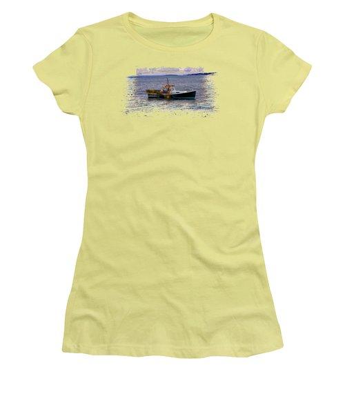 Lobstermen Women's T-Shirt (Junior Cut) by John M Bailey
