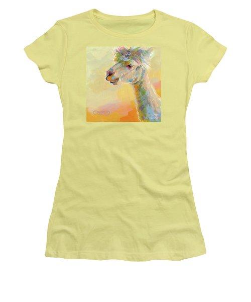 Lolly Llama Women's T-Shirt (Junior Cut) by Kimberly Santini