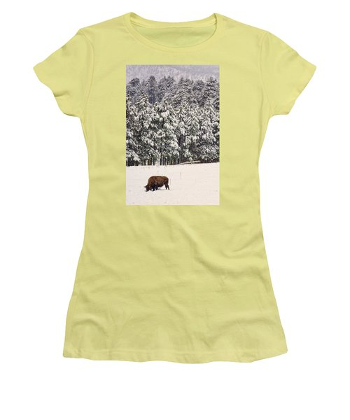 Lone Bison Women's T-Shirt (Athletic Fit)
