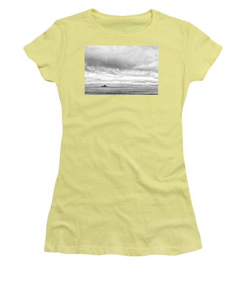 Women's T-Shirt (Athletic Fit) featuring the photograph Lone Island In The Pacific by Jingjits Photography