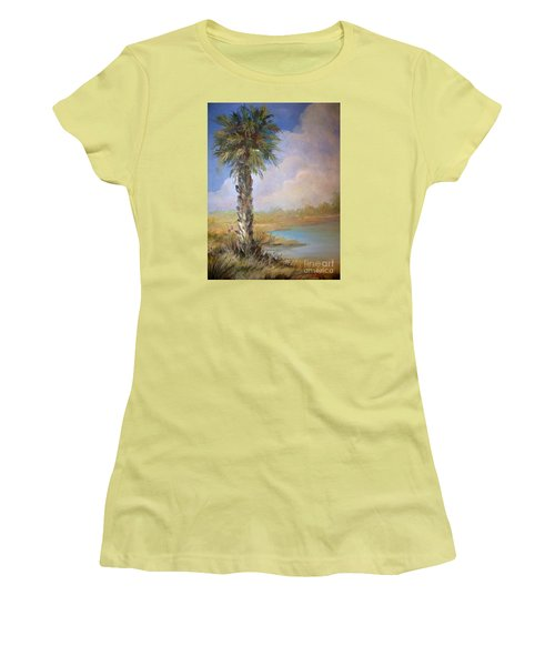 Lone Palm Women's T-Shirt (Athletic Fit)