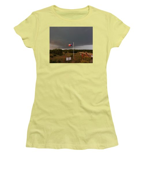 Lone Star Supercell Women's T-Shirt (Junior Cut) by Ed Sweeney