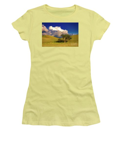 Lone Tree With Storm Clouds Women's T-Shirt (Athletic Fit)