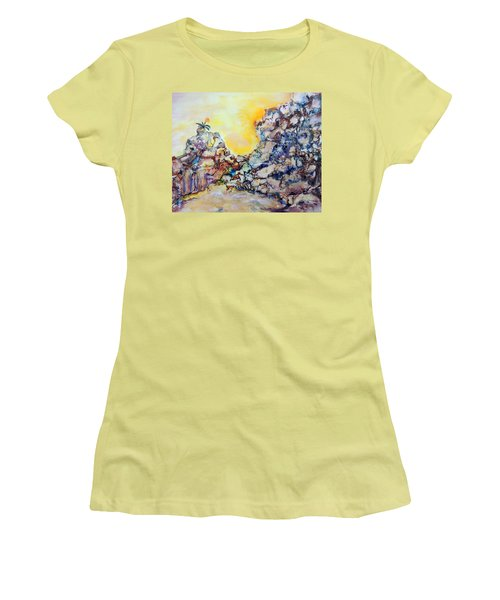 Lonely Flower Women's T-Shirt (Junior Cut) by Mary Schiros