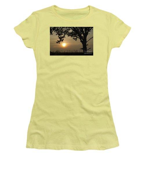 Lonely Tree At Sunset Women's T-Shirt (Junior Cut) by Kennerth and Birgitta Kullman
