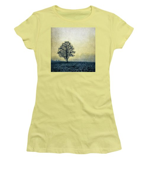 Women's T-Shirt (Junior Cut) featuring the photograph Lonely Tree by Marion McCristall