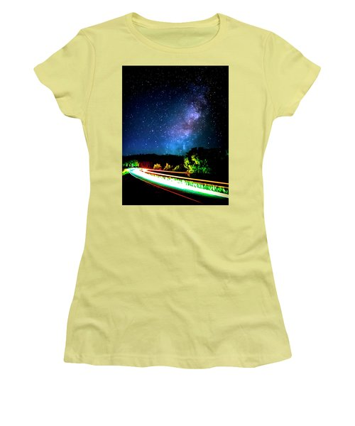 Women's T-Shirt (Athletic Fit) featuring the photograph Lonesome Texas Highway by David Morefield