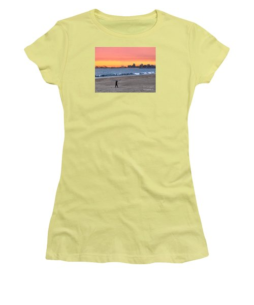 Long Beach From Huntington Beac Women's T-Shirt (Athletic Fit)