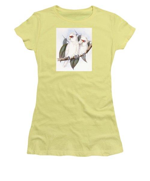 Long-billed Cockatoo Women's T-Shirt (Junior Cut) by John Gould