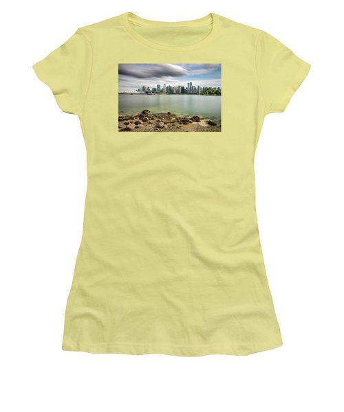 Long Exposure Of Vancouver City Women's T-Shirt (Junior Cut) by Pierre Leclerc Photography