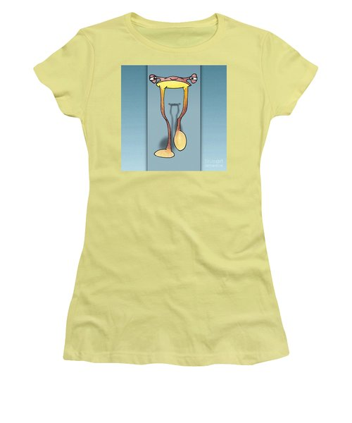 Long Tall Shadow Women's T-Shirt (Junior Cut) by Uncle J's Monsters