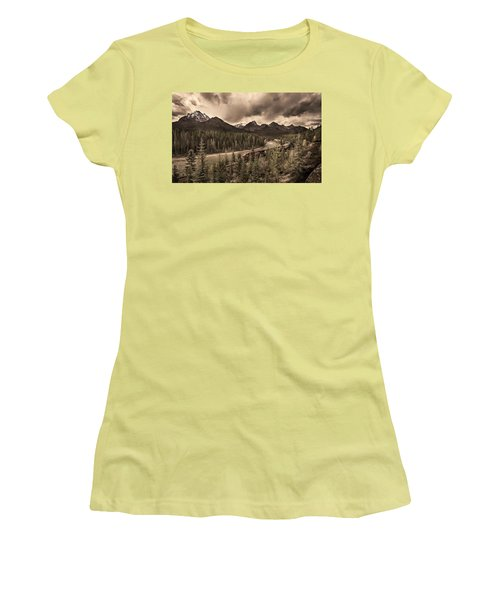 Women's T-Shirt (Junior Cut) featuring the photograph Long Train Running by John Poon
