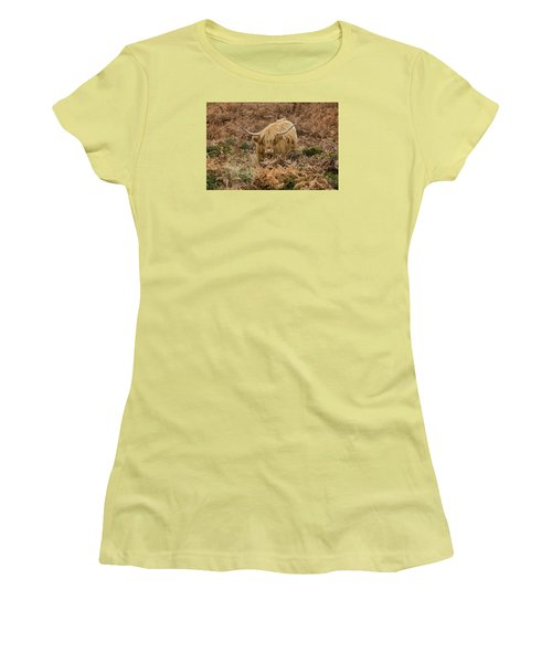 Longhorn On Dartmoor Women's T-Shirt (Athletic Fit)