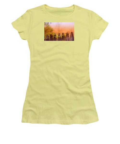 Women's T-Shirt (Junior Cut) featuring the photograph Look Beyond The Boundary by Rima Biswas