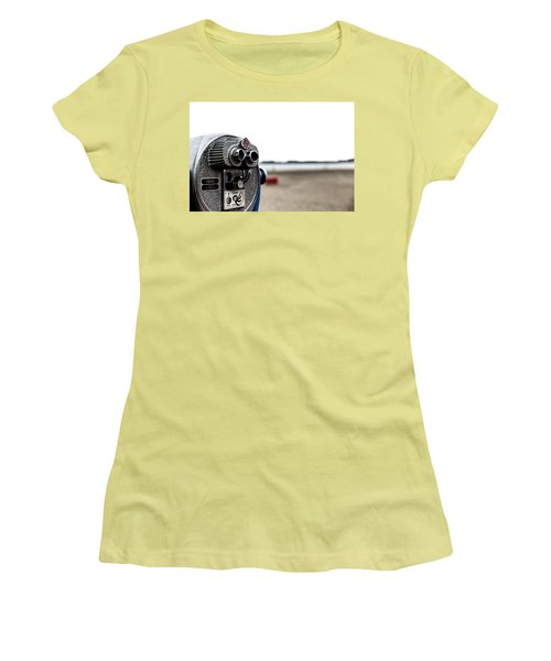 Women's T-Shirt (Athletic Fit) featuring the photograph Look  by Lora Lee Chapman