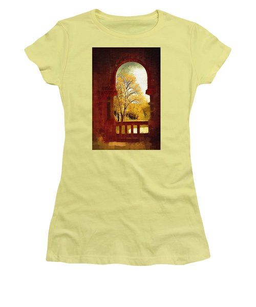 Women's T-Shirt (Junior Cut) featuring the digital art Lookin Out by Holly Ethan