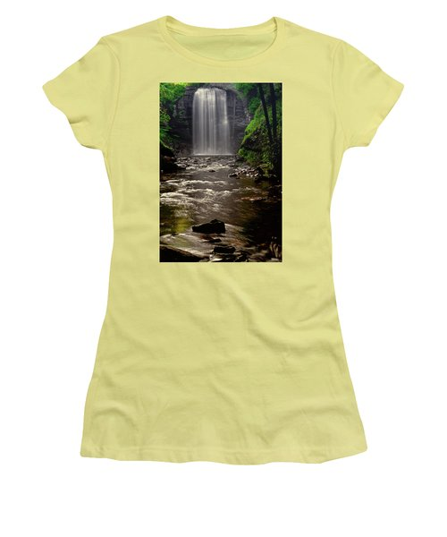 Women's T-Shirt (Junior Cut) featuring the photograph Looking Glass Falls 009 by George Bostian